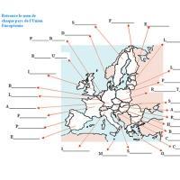Carte De Leurope Jeux Educatifs.Nom Des 28 Pays De L Europe Tete A Modeler
