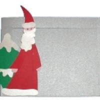 Explications pour fabriquer un cadre photo Père Noël