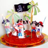 Gâteau aux pirates des Caraïbes