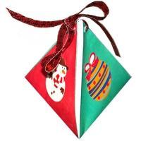 Pochette cadeau de Noel pyramide
