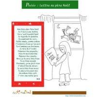 poème à colorier lettre au père Noël