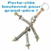 Porte-clés boulonné pour grand-père