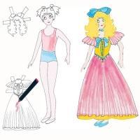 Fabriquer une poupée fille en papier