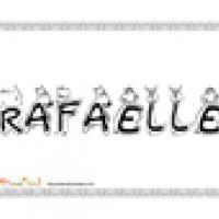 Rafaelle, coloriages Rafaelle