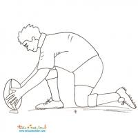 Coloriage rugby