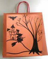Sac bonbons halloween décoré de dessins