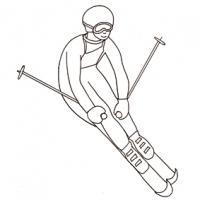 Coloriages sur le ski