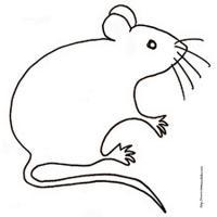 dessin de souris pour le coloriage