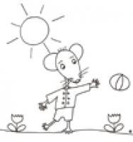 Coloriage des souris pour les enfants