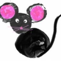 Peindre une souris aux doigts