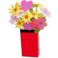 Vase emballage rouge et noir