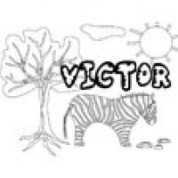 Victor, coloriages Victor