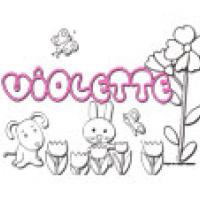 Violette, coloriages Violette