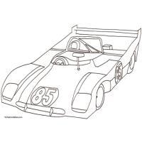 Des coloriages de voitures de courses à imprimer pour les enfants. Des sportives, des Formules 1, retrouvez tout type de voitures de course. Des dessins de voiture de course à colorier aux crayons de couleurs ou aux feutres.