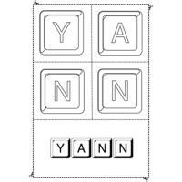 Jeux d'activité avec les prenoms avec un Y