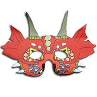 Masque de dragon chinois à imprimer