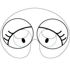 Imprimer le modèle du masque de gros-yeux pour le déguisement des enfants , masque à colorier et à découper