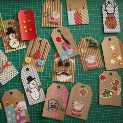 Un tutoriel pour réaliser des tags pour les cadeaux de Noël