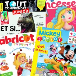Retrouvez 5 magazines junior parmi les plus gros titres dans l'univers jeunesse à -10% grâce à Tête à modeler