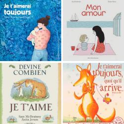 Une sélection pleine de tendresse de livres qui parlent d'amour ou plutôt de l'amour inconditionnel que peuvent porter les parents à leurs enfants.