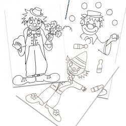 Coloriage Clown Hiver.Coloriage Personnages Dessin De Personnages A Colorier