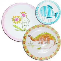 Assiettes, assiettes décorées