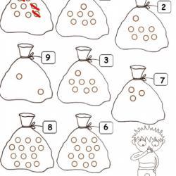 Observer, compter et ajouter ou barrer ce qui est en trop sur chaque dessin. Des activités pour les enfants de maternelle niveau 3 (grande section)
