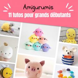 Retrouvez 15 modèles adorables d'amigurumis pour réaliser vos petits jouets en crochet.