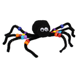 tuto pour bricoler avec les enfants une araignée en fil chenille