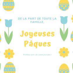 Carte Joyeuses Pâques à imprimer gratuitement pour l'envoyer à la famille et aux amis afin de leur souhaiter de passer de joyeuses Pâques. Imprimez la carte Pâques au jardin sur du papier épais et écrivez-y un joli texte avant de l'offrir.