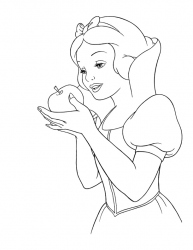Coloriage Blanche neige #2