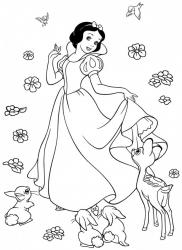 Coloriage Blanche neige #4