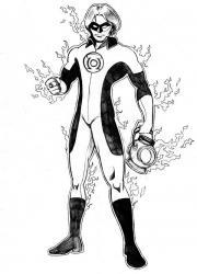 Coloriage de Green Lantern #4