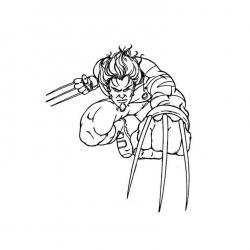 Coloriage de Wolverine