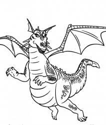 Coloriage dragon #5
