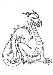 Coloriage dragon #6