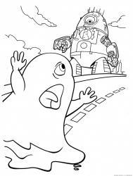 Coloriage fantôme : tous les dessins et coloriages fantômes à imprimer gratuitement pour halloween. Page 11