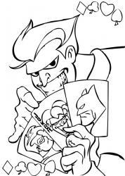 Coloriage du joker, ennemi juré du super héro batman