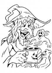Coloriage sorcière #09