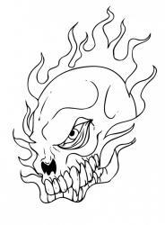 Coloriage Tête de mort #01
