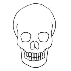 Coloriage Tête De Mort 04 à Imprimer Avec Tête à Modeler