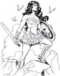 Coloriage Wonder Woman #3