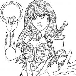 Coloriage Wonder Woman #4