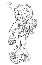 Coloriage zombie #06