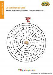 Télécharger et imprimer gratuitement ce jeu de labyrinthe Super Wings copie