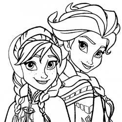 Coloriage Delsa Et Anna De La Reine Des Neiges