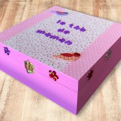 Vous êtes à la recherche d'une idée cadeau pratique pour la fête des mères ? Pourquoi ne pas opter pour une jolie boîte à thé en bois à décorer avec des strass, des lettres et du tissu adhésif ? Une activité créative facile qui fera plaisir aux enfants e
