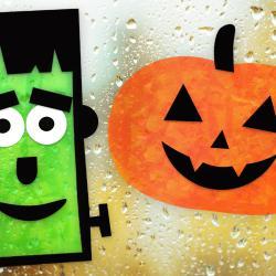 Aujourd'hui nous allons vous faire découvrir un tuto facile qui vous permettra de décorer vos fenêtres pour Halloween avec des feuilles en PVC et du papier de soie !   Dans ce bricolage, les enfants vont être amenés à combiner découpage et v