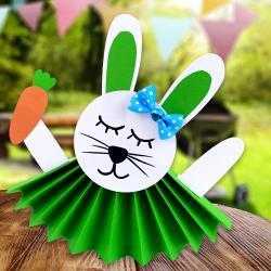 Découvrez une activité de Pâques facile et amusante que tout le monde pourra faire avec quelques feuilles de papier.    Les enfants vont adorer fabriquer ces petits lapins colorés !