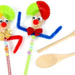 Découvrez une super activité sur le thème du Carnaval au cours de laquelle les enfants fabriqueront des jolies marionnettes grâce à des cuillères en bois.    Une activité pleine de couleurs et très facile à réaliser !